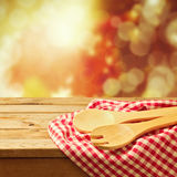 Autumn background with kitchen utensil Royalty Free Stock Images