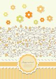 Autumn background with lace vector Royalty Free Stock Photography