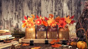 Autumn Background Landscape Fotografie Stock Libere da Diritti