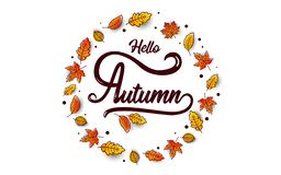 Autumn calligraphy banner Royalty Free Stock Photo