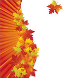 Autumn background with leaves. Autumn background with yellow and red maple leaves, , illustration Royalty Free Stock Photo