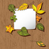 Autumn background with leaves Stock Photo
