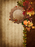 Autumn background with leaves Stock Photography