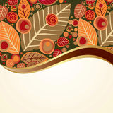 Autumn background with leaves and flower Stock Image