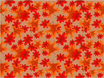Autumn background. Autumn leaves at the light- brown background Royalty Free Stock Photo