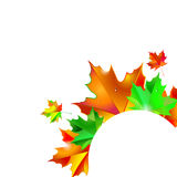 Autumn background with leaves. Maple leaf vector illustration. Autumn background with leaves. Maple leaf vector Stock Photography