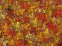 Autumn background. Background with autumn leaves and raindrops. High resolution image Vector Illustration