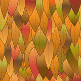 Autumn background from leaves, seamless structure. The vector image for your successful projects Royalty Free Stock Photos