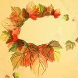 Autumn Background. Autumn Background With Leaves. Vector Illustration. Eps 10 Stock Photos