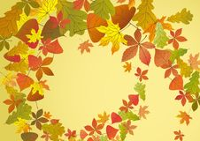 Autumn Background. Autumn Background With Leaves. Vector Illustration. Eps 10 Royalty Free Stock Images