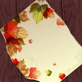Autumn Background With Leaves. Vector Illustration. Eps 10 royalty free illustration