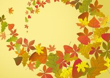 Autumn Background. Autumn Background With Leaves. Vector Illustration. Eps 10 stock illustration