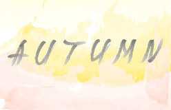Autumn background and lettering stock photography