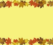 Autumn background with Maple Leaves. Vector royalty free illustration