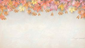 Autumn background with maple leaves royalty free illustration