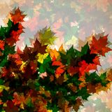 Autumn background of maple leaves. Colofrul image royalty free illustration