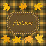 Autumn background with maple leaves. Vector illustration Royalty Free Stock Images