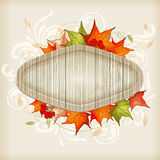 Autumn background with maple leaves Stock Images