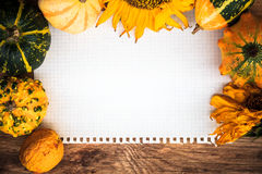 Autumn background old board space text Stock Photography
