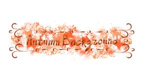 Autumn Background Orange Paint Splash sur style grunge de fond blanc le rétro Photos stock