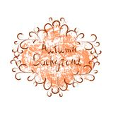 Autumn Background Orange Paint Splash sur style grunge de fond blanc le rétro illustration libre de droits