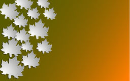 Autumn background with paper cut maple, Vector illustration. Stock Image