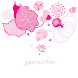 Autumn background with pink leaves Stock Image
