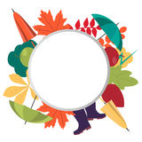 Autumn background with place for text Royalty Free Stock Photo