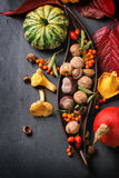 Autumn background with pumpkins Royalty Free Stock Image