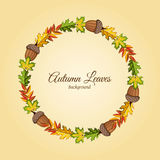 Autumn background raster illustration Stock Photo