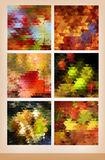 Autumn background set Royalty Free Stock Photos