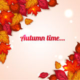 Autumn background with shining foliage Stock Images