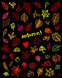 Autumn background, sketch drawing for your design Stock Photo