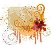 Autumn background with a splash Stock Photography