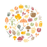 Autumn Background. Autumn symbols and activities Royalty Free Stock Photography