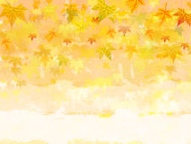 Autumn background with text space. Background with illustrated autumn leaves with text space Royalty Free Stock Image