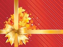 Autumn Background / Thanksgiving Bow stock illustration