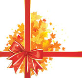 Autumn Background /  Thanksgiving Bow Royalty Free Stock Photography