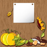 Autumn background. Thanksgiving card Stock Photos