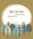 Autumn background with a trees Royalty Free Stock Photography