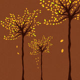 Autumn background with trees Stock Photos