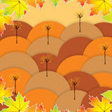 Autumn background with trees Stock Images