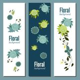 Autumn background vector illustration. Banners set of autumn leaves vector illustration. Background with hand drawn autumn leaves. Design elements. Autumn leaves royalty free illustration