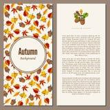 Autumn background vector illustration Royalty Free Stock Photos