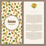 Autumn background vector illustration Stock Photos
