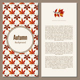 Autumn background vector illustration Royalty Free Stock Photo