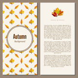 Autumn background vector illustration. Banners set of autumn leaves vector illustration. Background with hand drawn autumn leaves. Design elements. Autumn leaves Stock Photos