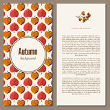 Autumn background vector illustration. Banners set of autumn leaves vector illustration. Background with hand drawn autumn leaves. Design elements. Autumn leaves Royalty Free Stock Photos