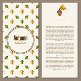Autumn background vector illustration. Banners set of autumn leaves vector illustration. Background with hand drawn autumn leaves. Design elements. Autumn leaves Royalty Free Stock Images