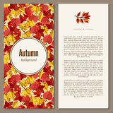 Autumn background vector illustration. Banners set of autumn leaves vector illustration. Background with hand drawn autumn leaves. Design elements. Autumn leaves Stock Photography